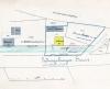 Lageplan von 1888, Teil eines Bauantrages zur Errichtung des Einfahrttores, Nordbahnhofstraße 41 gelb markiert, Quelle: Stadtarchiv Stuttgart.
