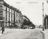 Teile der Nordbahnhofstraße, ehemals Ludwigsburgerstraße, auf einer Postkarte um 1914, Quelle: Stadtarchiv Stuttgart.